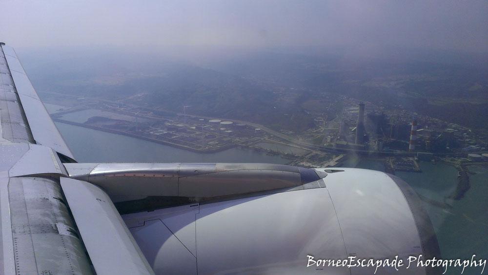 Approaching Tao Yuan International Airport