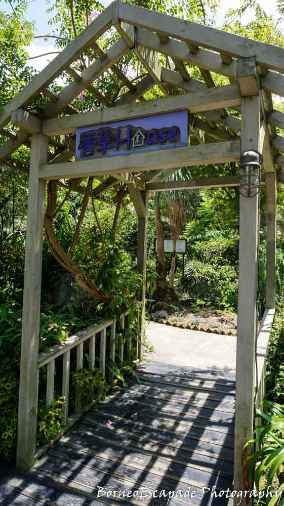 Entrance to the perfume house. Their perfumes were all made from the flowers available in the park.